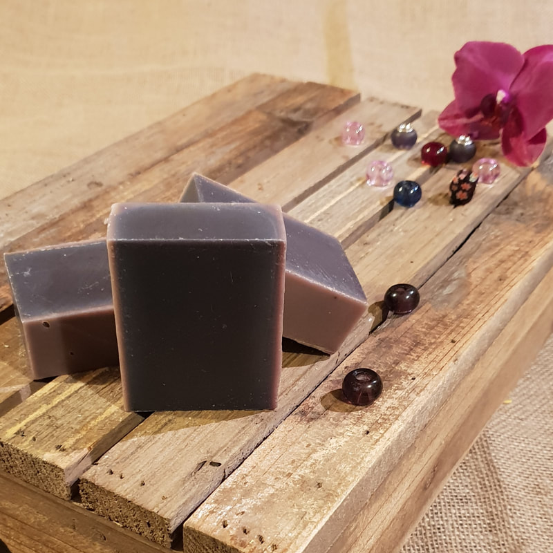 Lavender & Rosemary Organic Vegan Soap naked