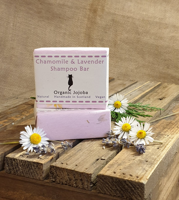 Chamomile and lavender organic shampoo bar
