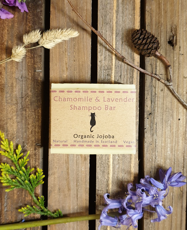 Chamomile and Lavender Organic Vegan Shampoo Bar