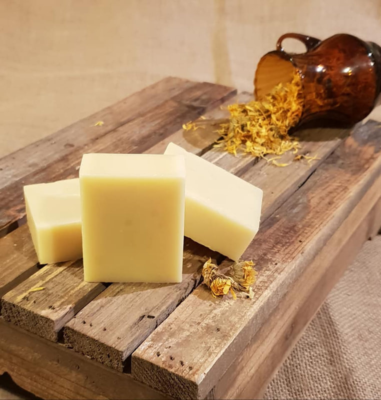 Gentle Calendula organic soap unperfumed for sensitive skin